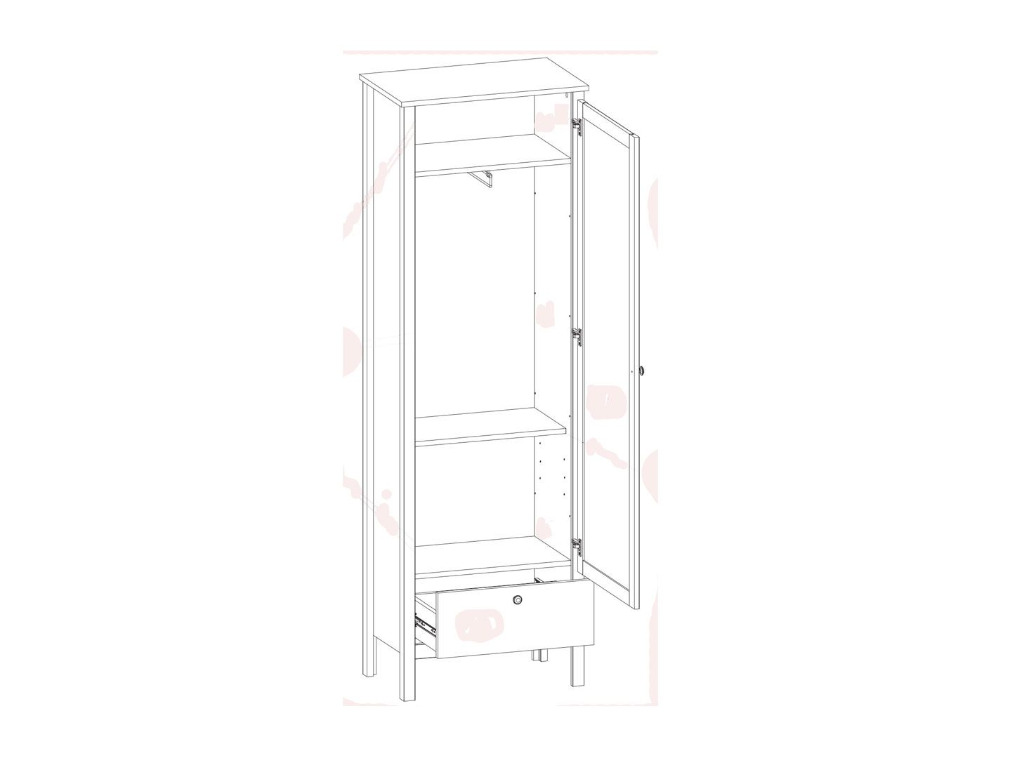 Шкаф SZF1W1S/60  Loft