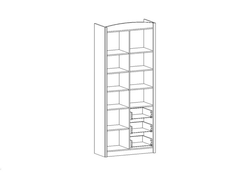 Шкаф комбинированный Salerno REG 3D3S