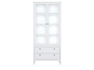 Шкаф REG2W2S с подсветкой белый Helga за 34303 ₽