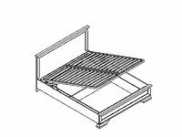 Кровать LOZ160х200 с подъёмным механизмом KENTAKI белый