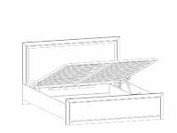 Кровать с подъёмным механизмом LOZ160х200_2 венге - штрокс КОЕН