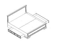 Кровать LOZ180х200 белый KENTAKI