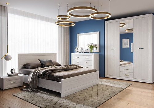 Светлый спальный гарнитур Malta BRW за 80828 ₽