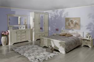 Белая мебель в спальню Kentaki за 140635 ₽