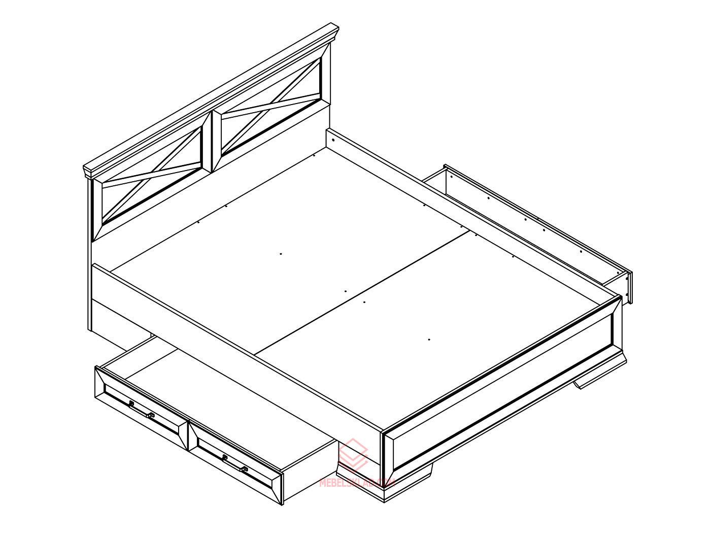 Кровать LOZ/160х200 MARSELLE