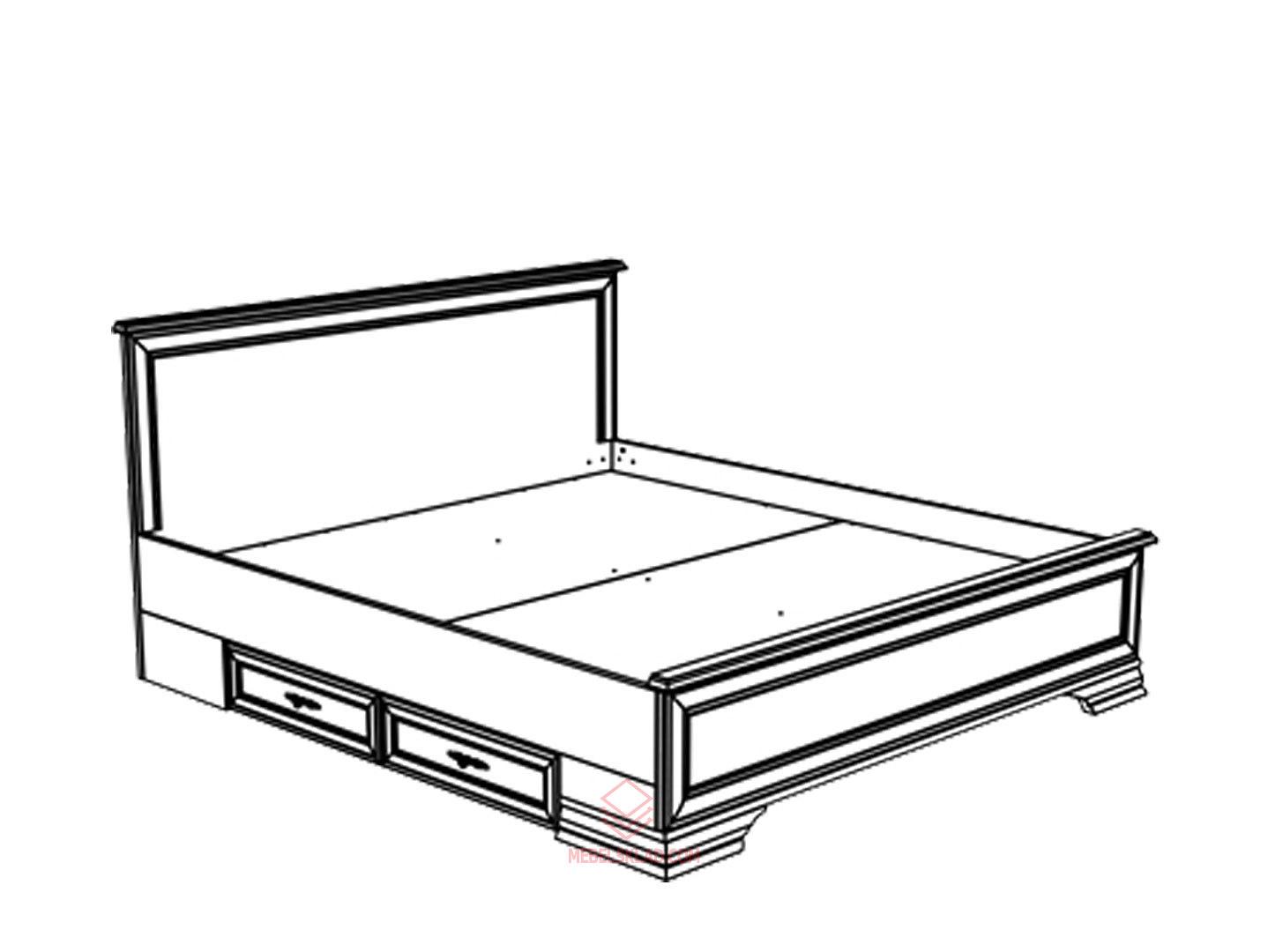 Кровать новая LOZ180х200 белый KENTAKI за 34547 ₽