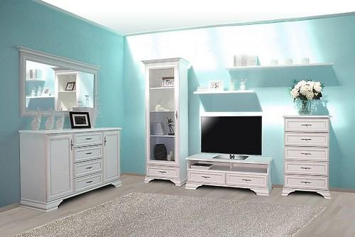 Белая классическая гостиная Kentaki за 65697 ₽