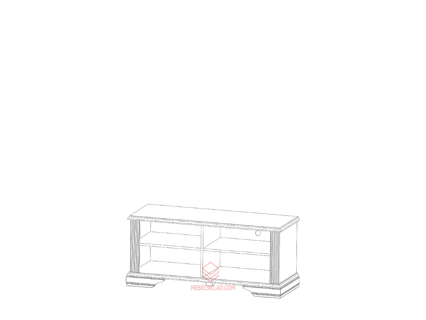 Тумба РТВ 120 сосна серебряная ВАЙТ за 7060 ₽