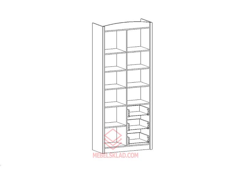 Шкаф комбинированный SALERNO REG 3D3S за 17808 ₽