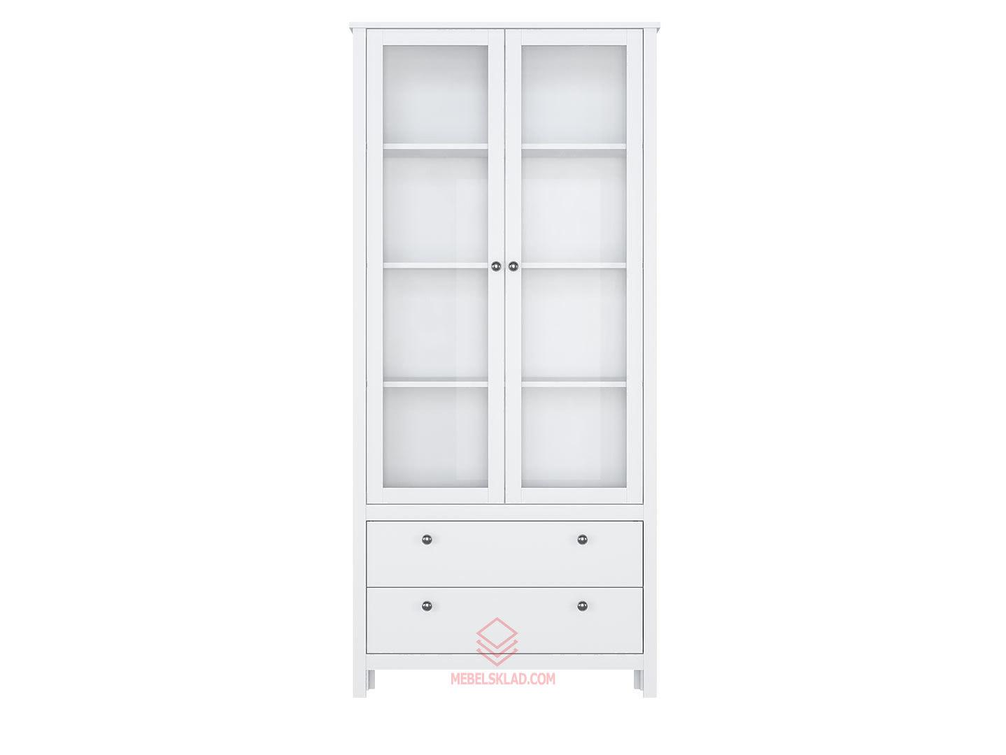 Шкаф REG2W2S белый HELGA