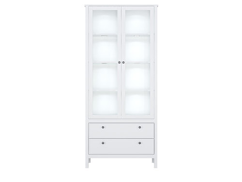 Шкаф REG2W2S с подсветкой белый HELGA за 23441 ₽