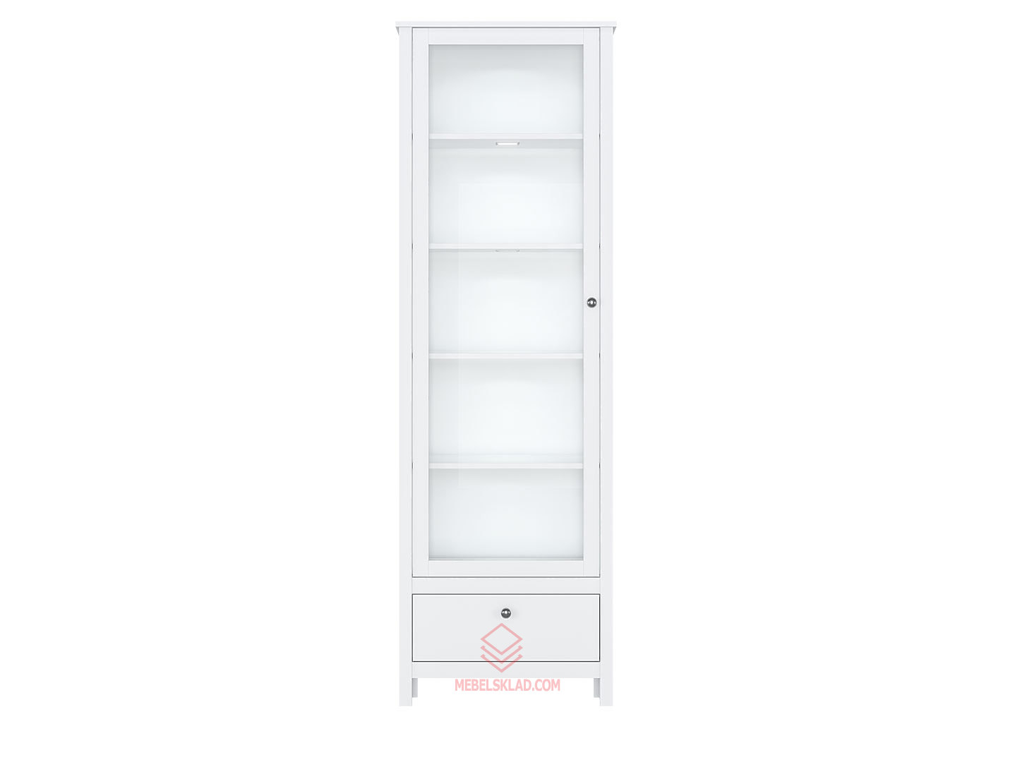 Шкаф REG1W1S/65 с подсветкой белый HELGA