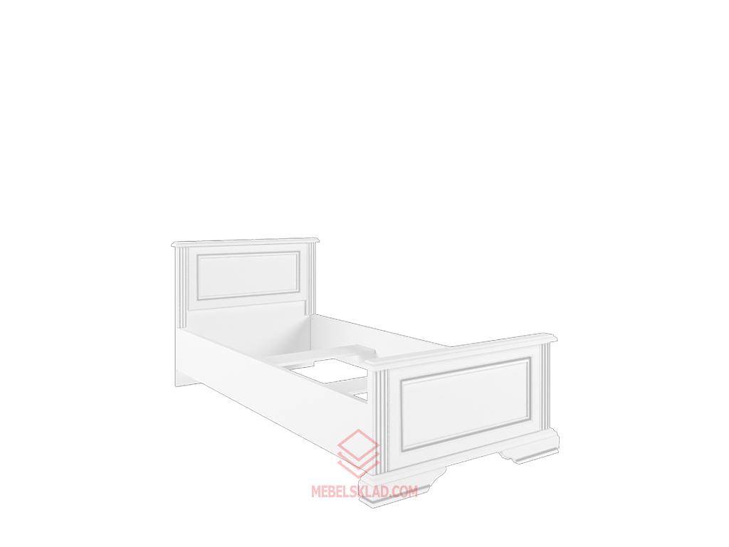Кровать с металлическим основанием 90  LOZ90х200 сосна серебряная ВАЙТ за 17675 ₽