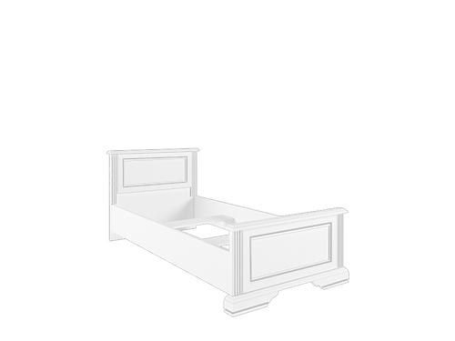 Кровать с металлическим основанием 90  LOZ90х200 сосна серебряная ВАЙТ за 17 675 руб