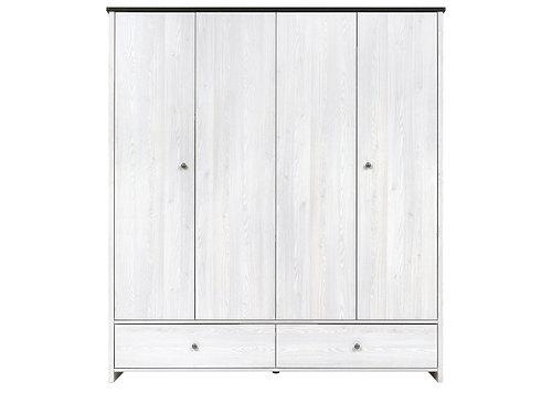 Шкаф платяной SZF4D2S Porto за 22667 ₽