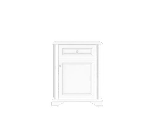 Тумба 1D1S сосна серебряная ВАЙТ за 8283 ₽