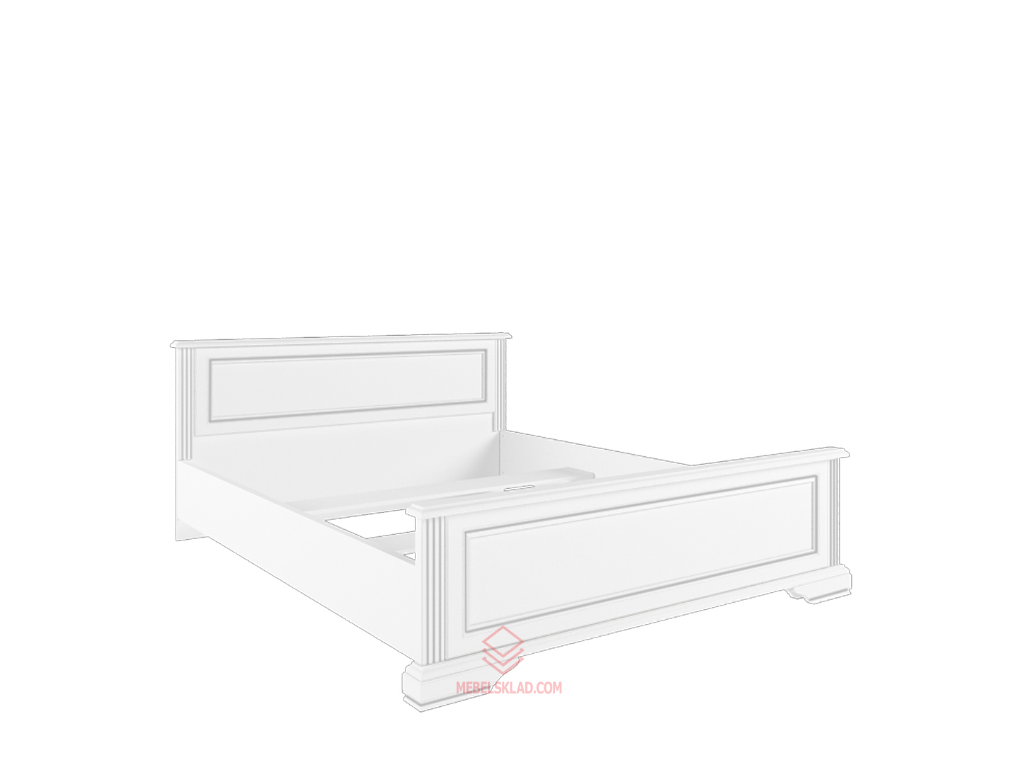 Кровать с основанием гибким LOZ180х200 сосна серебряная ВАЙТ
