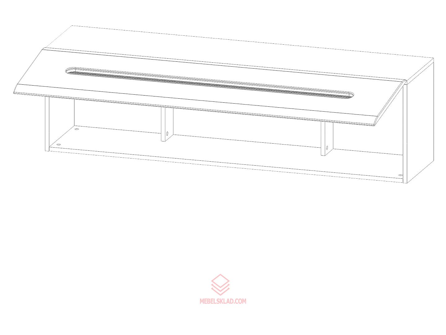 AZTECA Навесной шкаф SFW1K/4/15 дуб санремо
