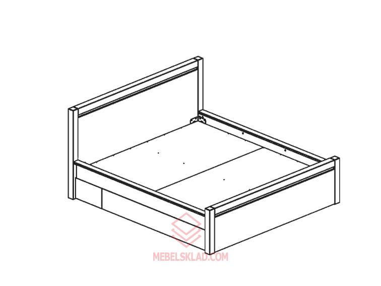 Кровать AUGUST дуб венге LOZ 180 за 26107 ₽