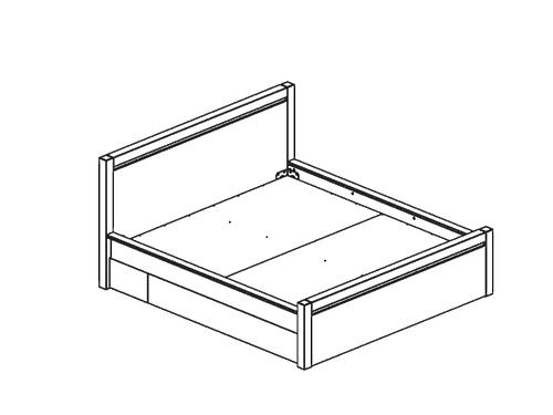 Кровать AUGUST дуб венге LOZ 180 за 29866 ₽