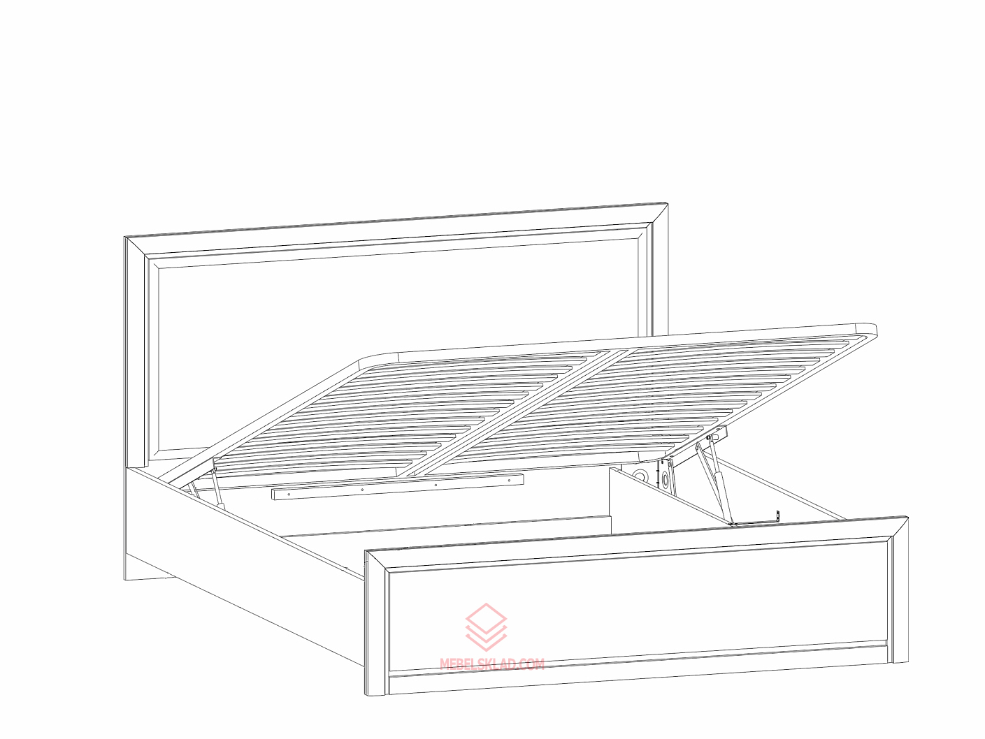 Кровать с подъёмным механизмом LOZ160х200_2 венге магия КОЕН