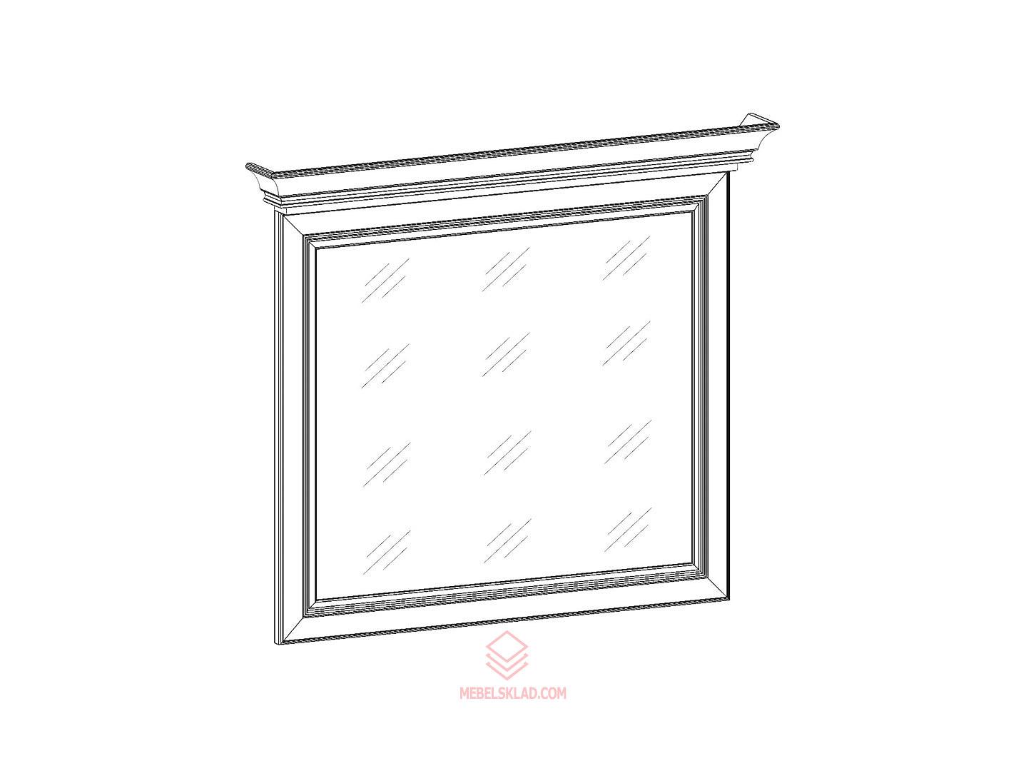 Зеркало 90 сосна серебряная ВАЙТ