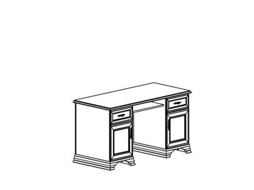 Стол письменный KENTAKI KENTAKI BIU2D2S  за 21 343 руб