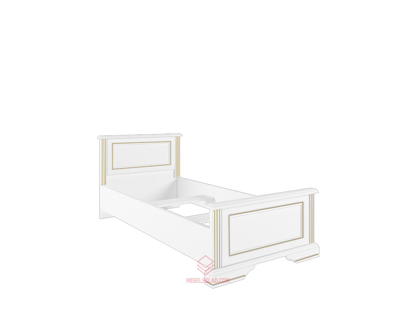 Кровать с основанием гибким LOZ90х200 сосна золотая ВАЙТ за 14223 ₽