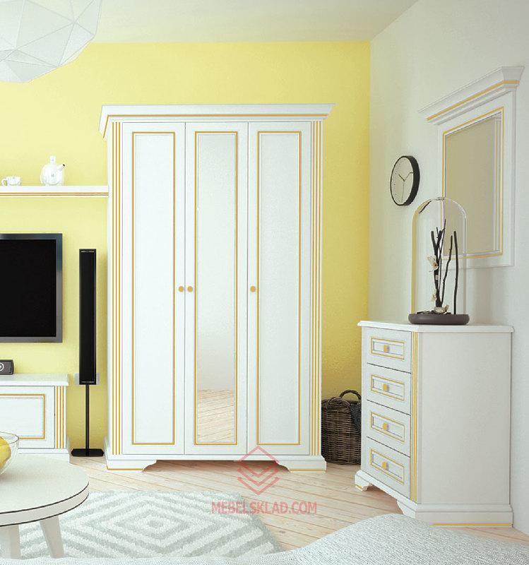 Шкаф  3D(2S) сосна золотая ВАЙТ за 33741 ₽