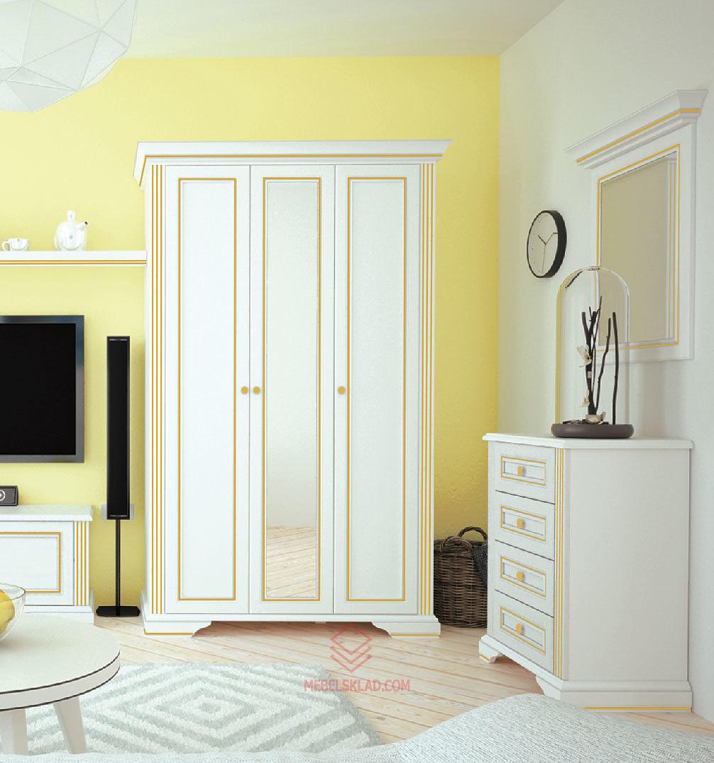 Шкаф  3D(2S) сосна золотая ВАЙТ