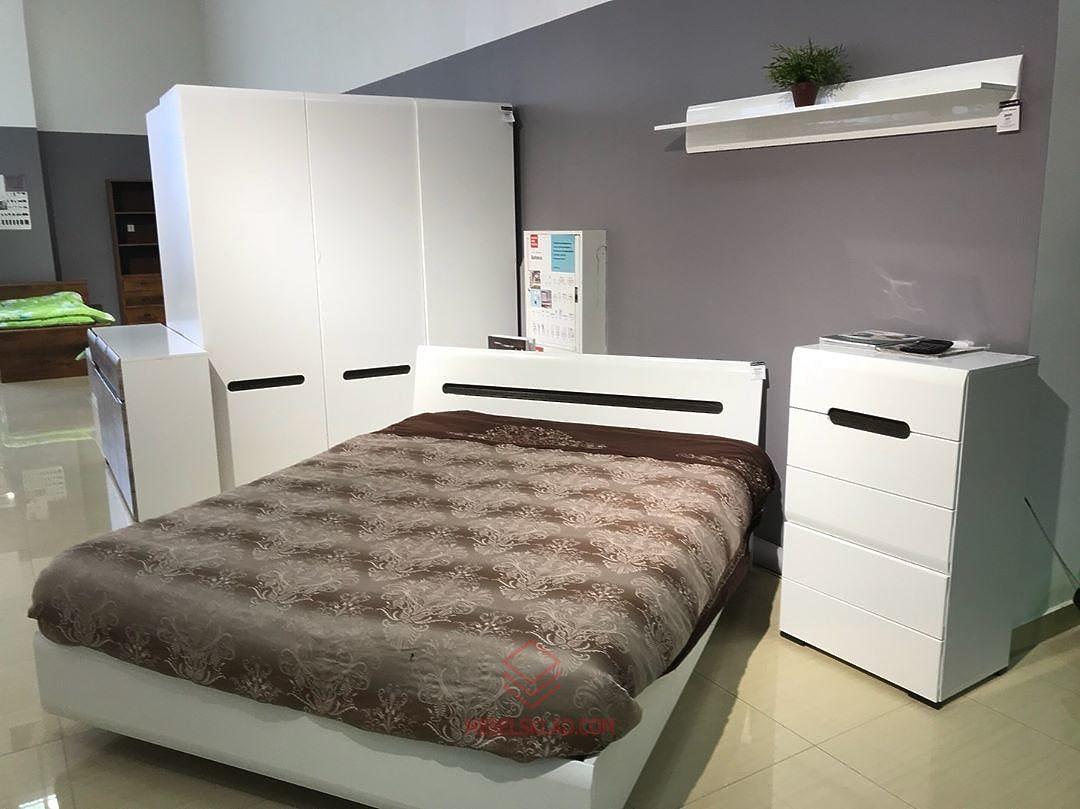 Кровать AZTECA LOZ140x200 (белый) с металлическим основанием