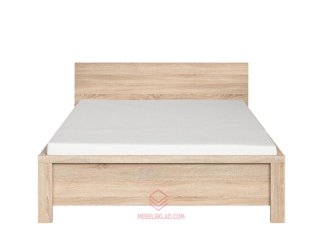 Кровать LOZ140х200_2 дуб сонома КАСПИАН - металлическое основание за 16066 ₽