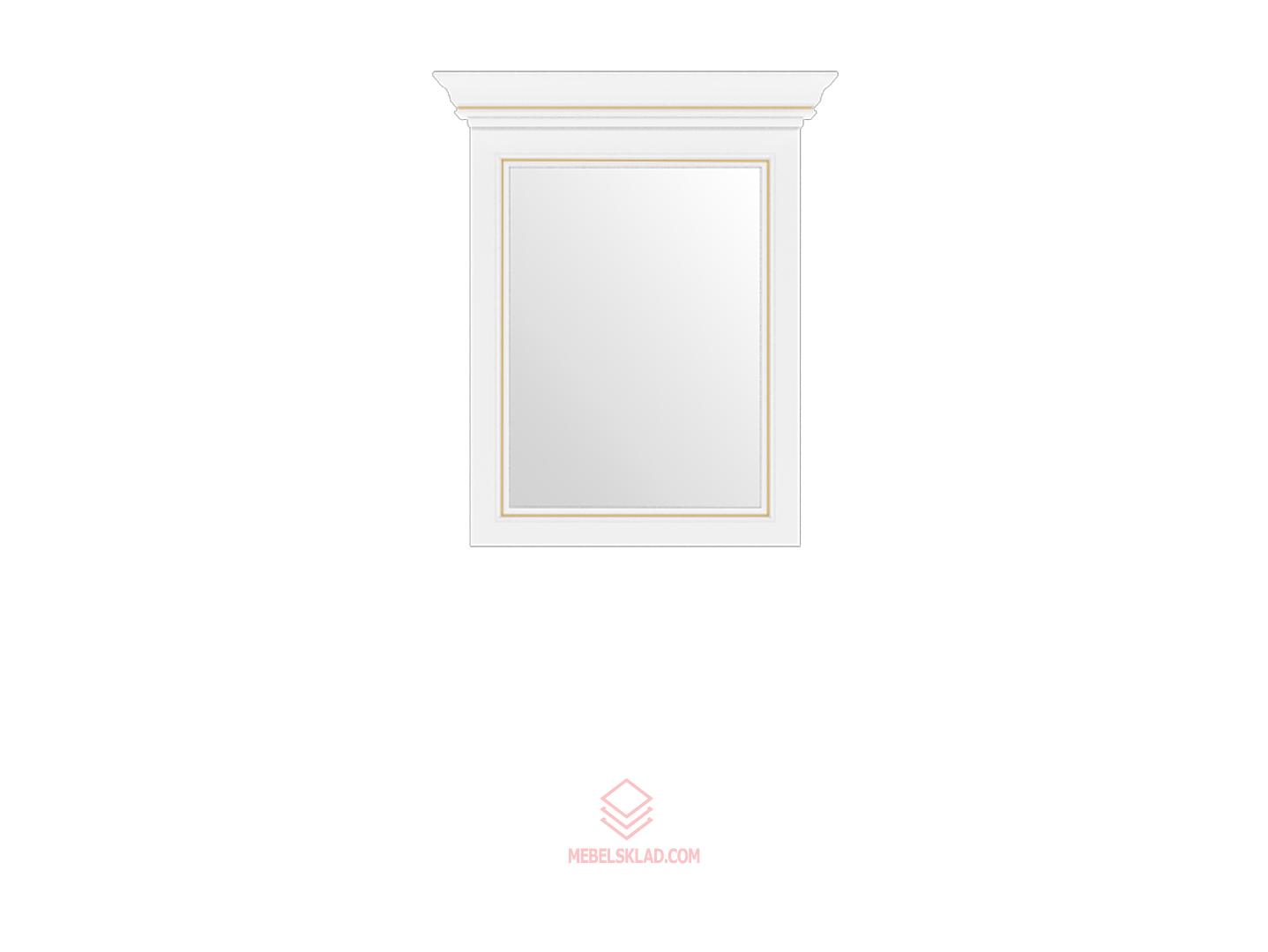 Зеркало 60 сосна золотая ВАЙТ