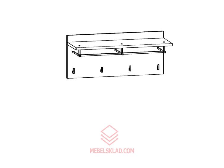 Вешалка PAN/4/8 дуб сонома темный HOMELINE за 3026 ₽
