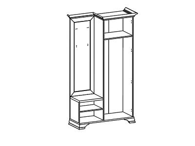 Шкаф с вешалкой KENTAKI PPK/110P  за 18 443 руб