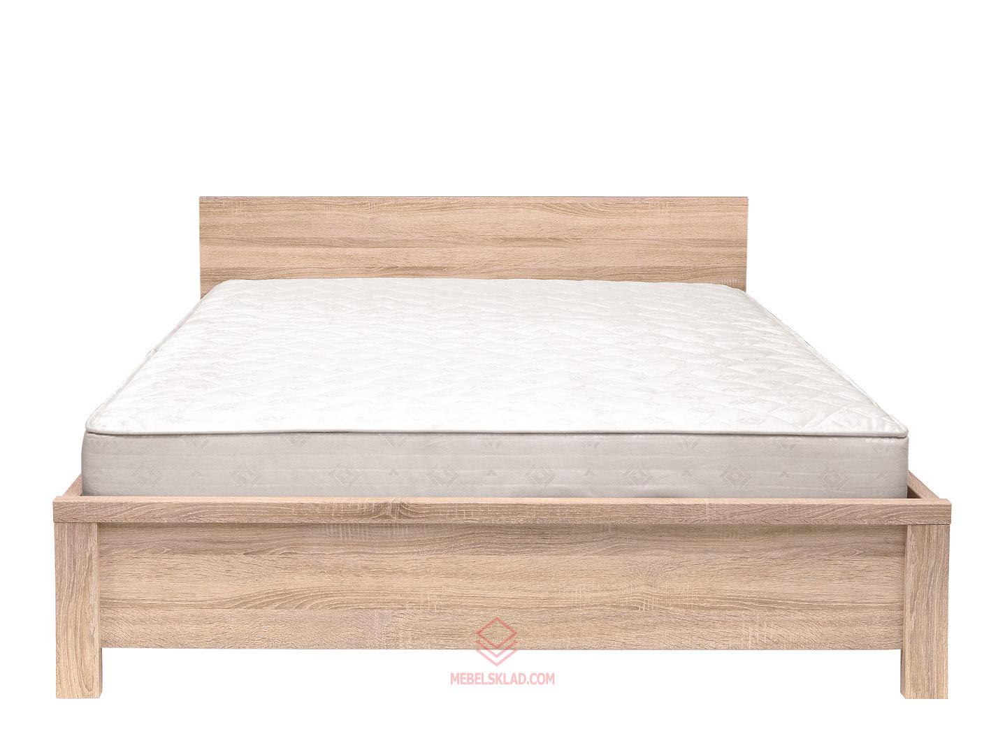 Кровать LOZ160х200_2 дуб сонома КАСПИАН - гибкое основание