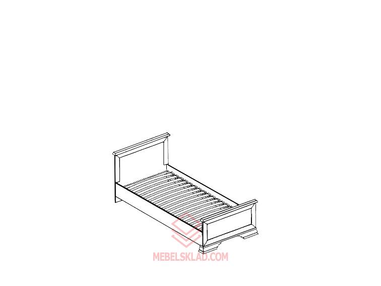 Кровать с основанием KENTAKI LOZ/90 белая за 11685 ₽