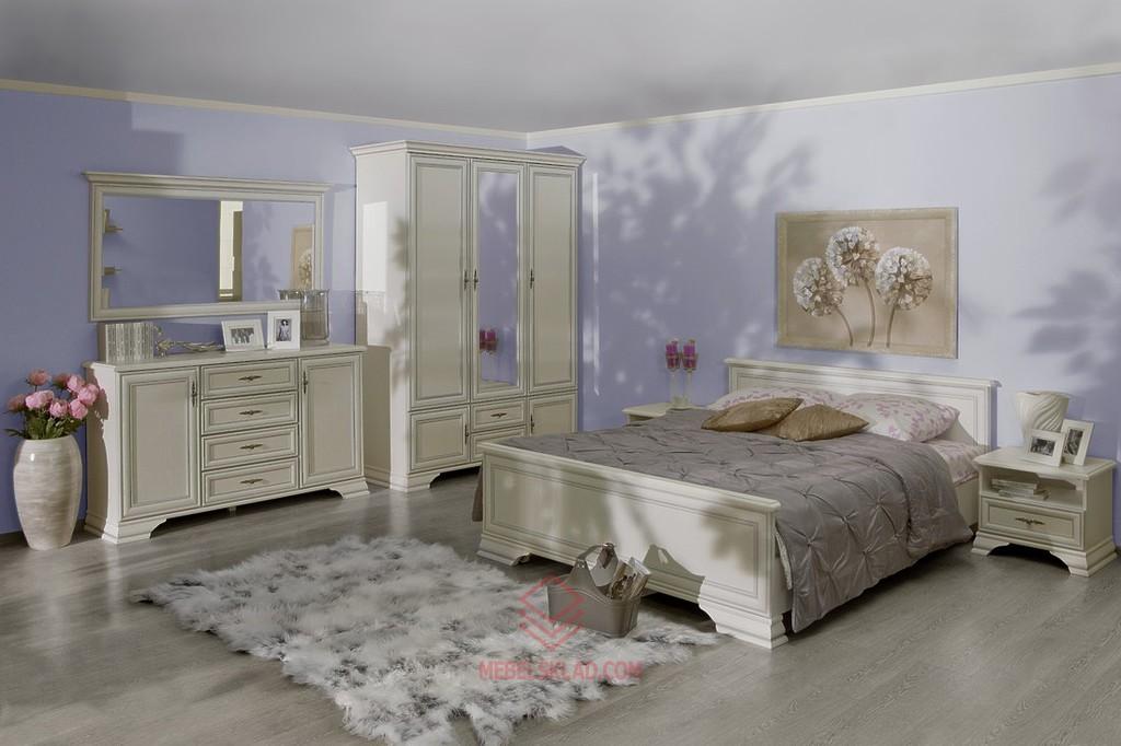 Белая мебель в спальню KENTAKI за 82065 ₽