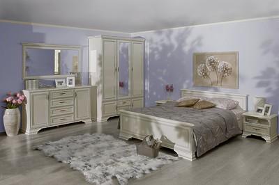 Белая мебель в спальню KENTAKI за 79 327 руб