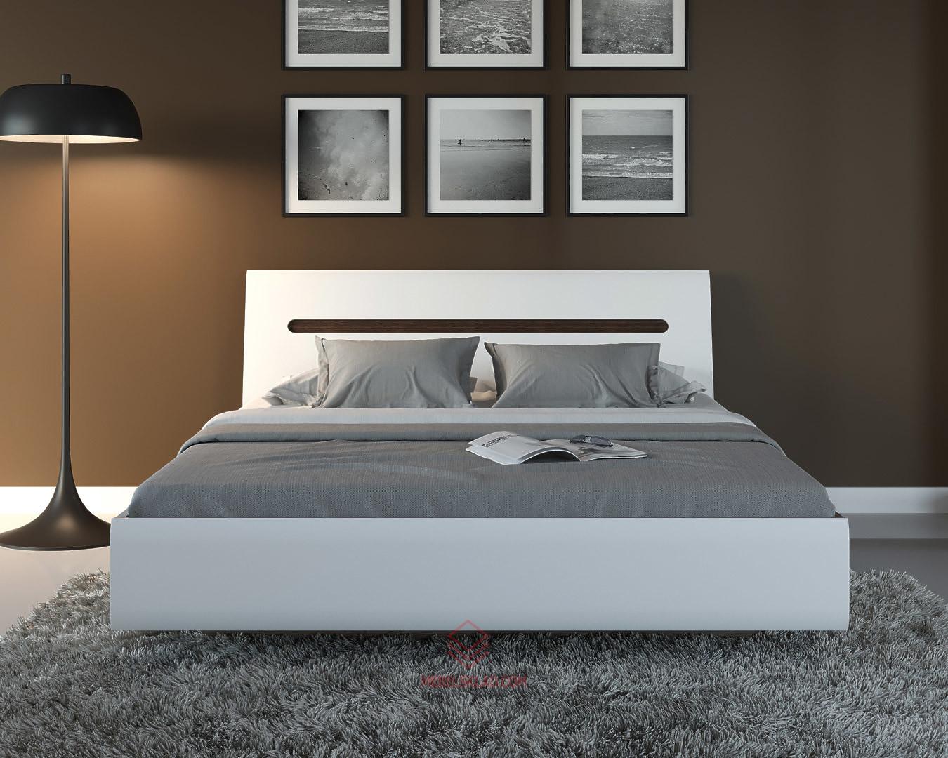 AZTECA Кровать LOZ180x200 белый с металлическим основанием